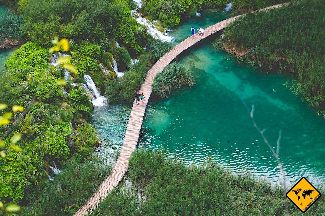 Holzsteg Weg Plitvicer Seen Kroatien