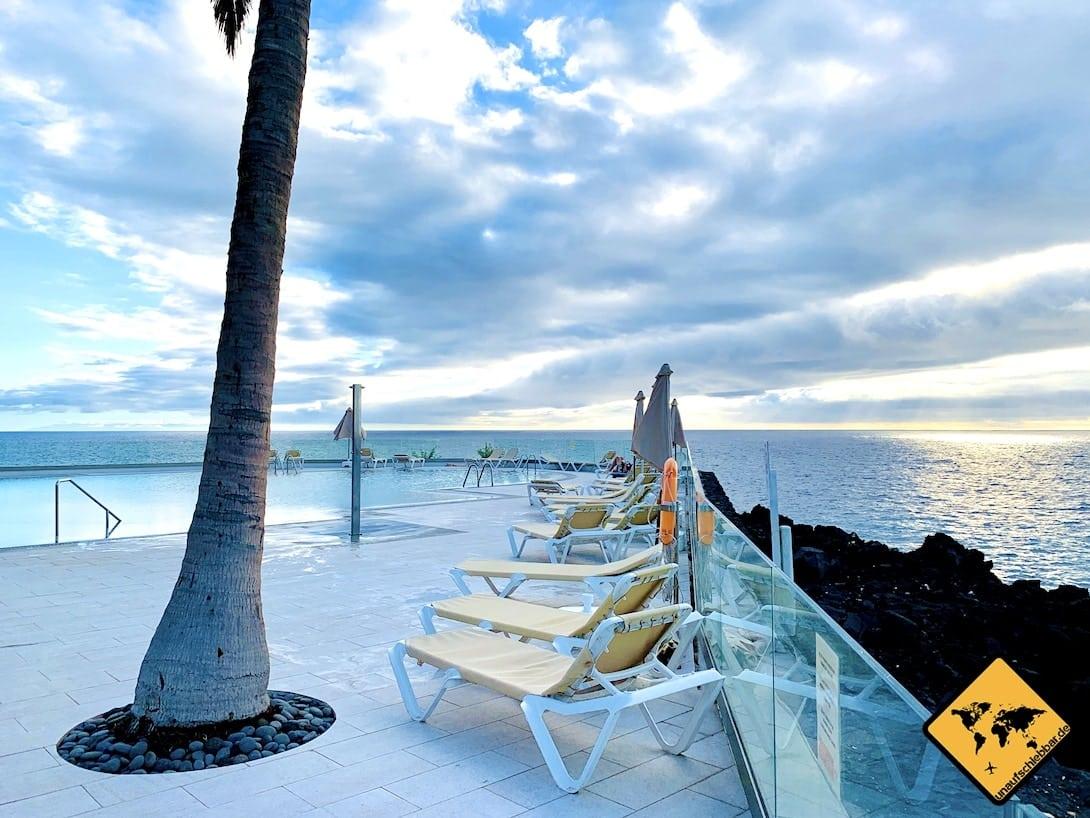 Hotel Sol La Palma Infinity-Pool Liegen