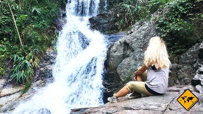 Huay Kaew Waterfall oberer Teil