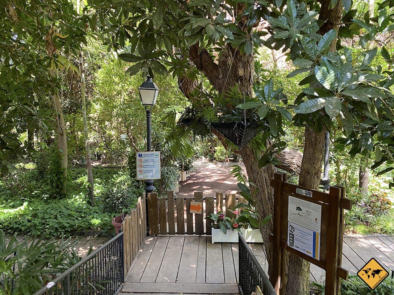 Huerto de Las Flores botanischer Garten Agaete