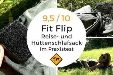 Hüttenschlafsack Test – Fit Flip Reiseschlafsack für Camper & Backpacker