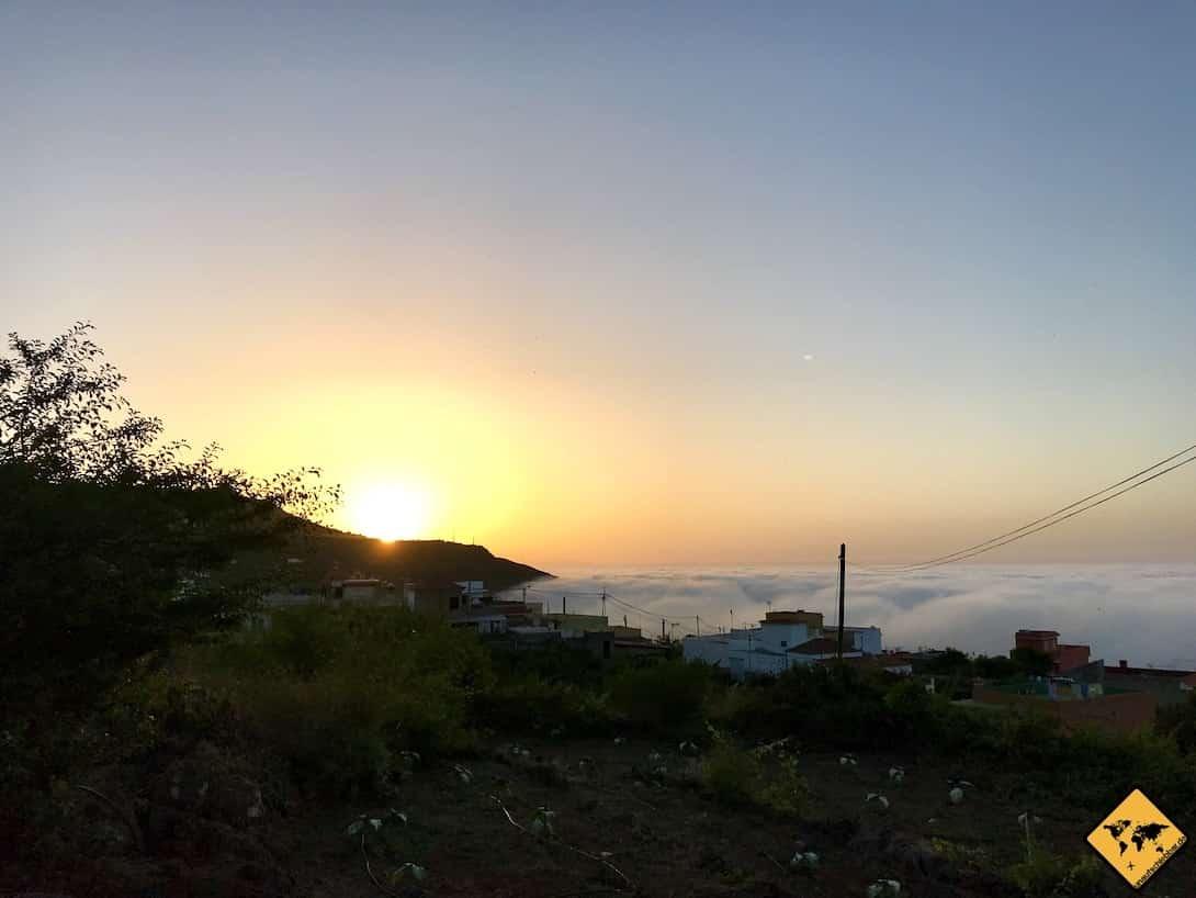 Icod AirBnB Teneriffa Sonnenuntergang