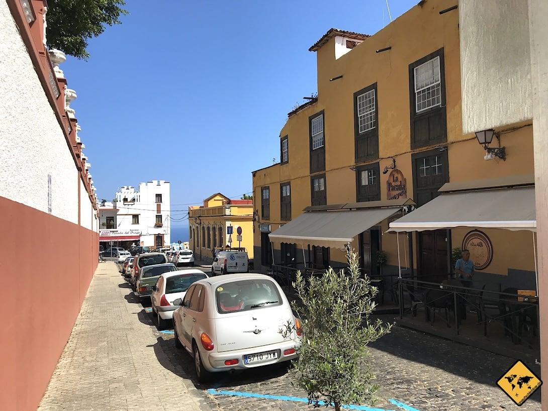 Icod Parkplätze Straßenrand