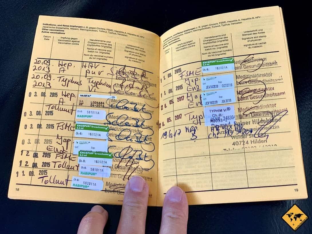 Impfbuch Reiseimpfungen Myanmar
