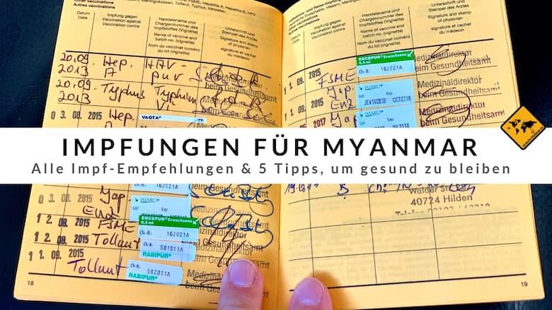 Impfungen für Myanmar