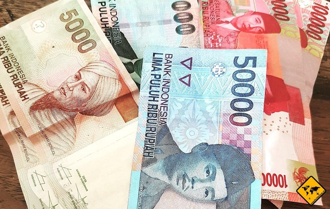 Indonesische Rupien Währung Bali