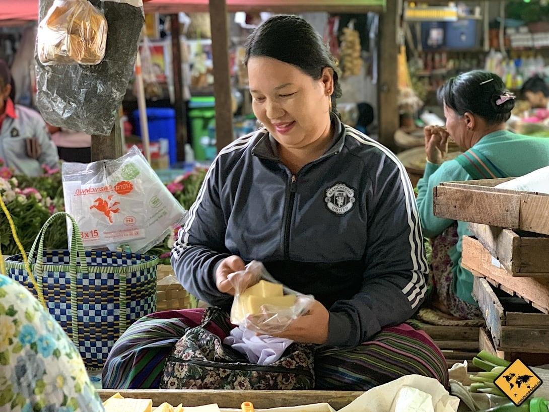 Inle Lake Markt Tofu gelb