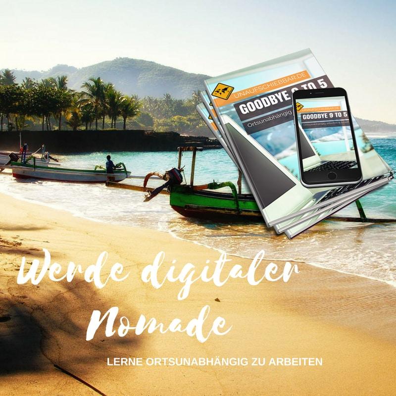 Instagram - Werde digitaler Nomade - ortsunabhängig arbeiten leben
