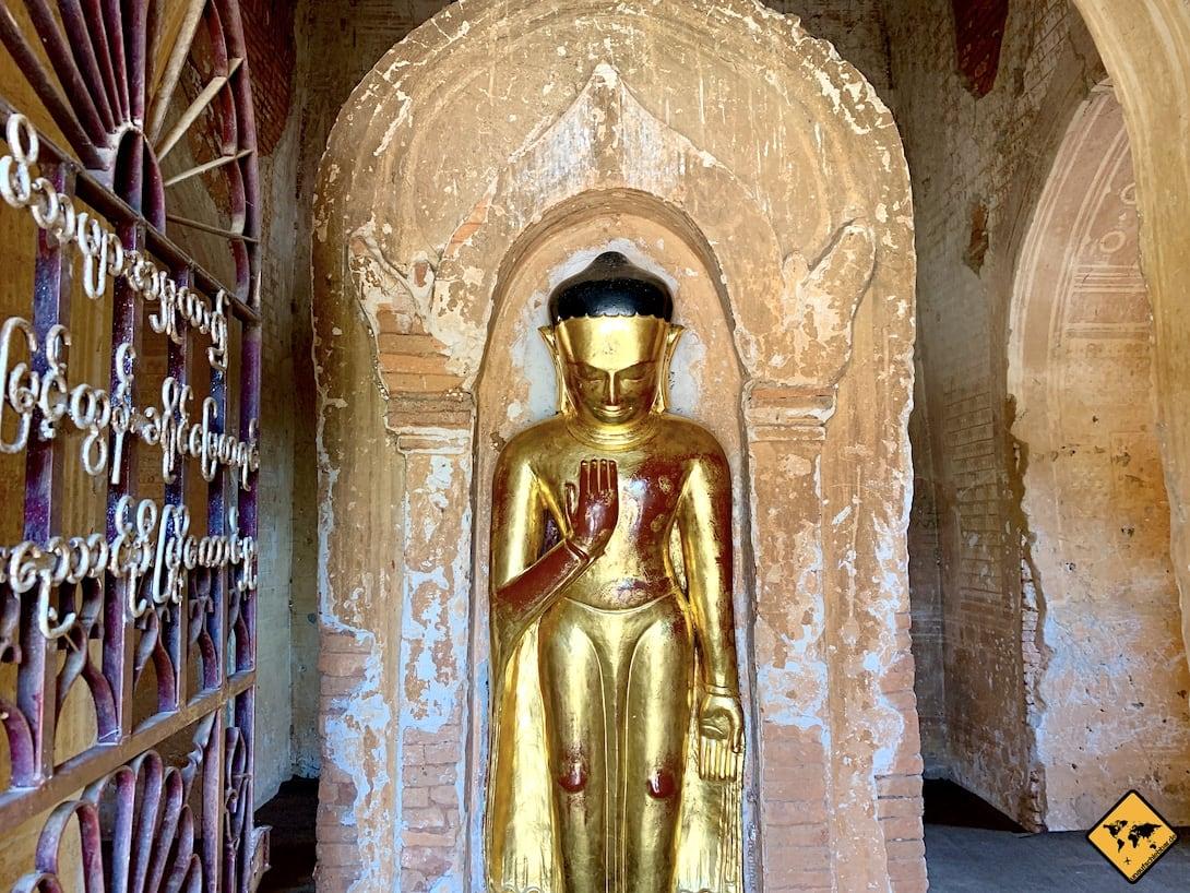 Iza Gawna Pagode Bagan Buddha gold