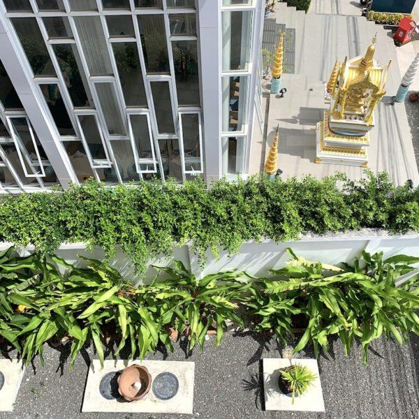 JJW House Nai Yang Beach Ausblick Balkon