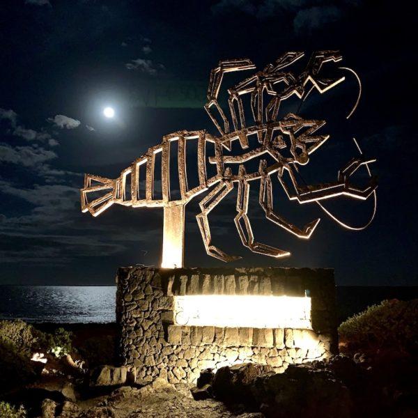 Jameos del Agua Symbol Abendbeleuchtung