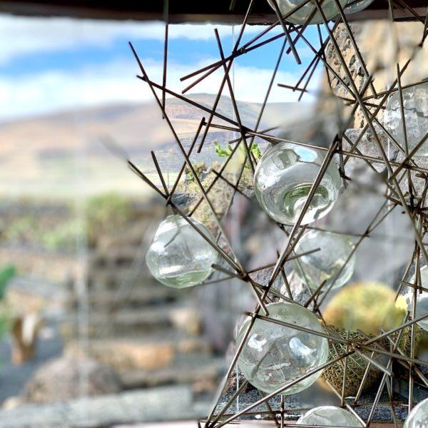 Jardín de Cactus Lanzarote Stahlkunstwerk
