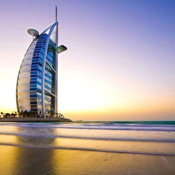 Jumeirah Beach Burj Al Arab Sonnenuntergang