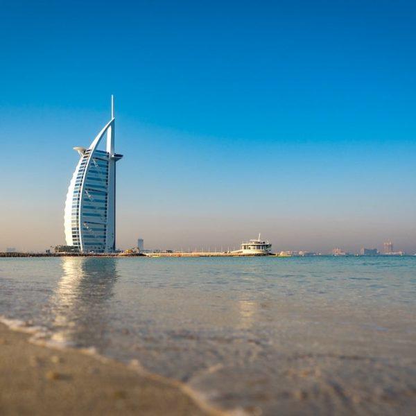 Jumeirah Public Beach Ausblick Burj Al Arab