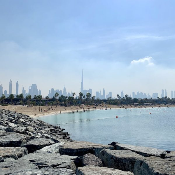 Jumeirah Public Beach Skyline Dubai