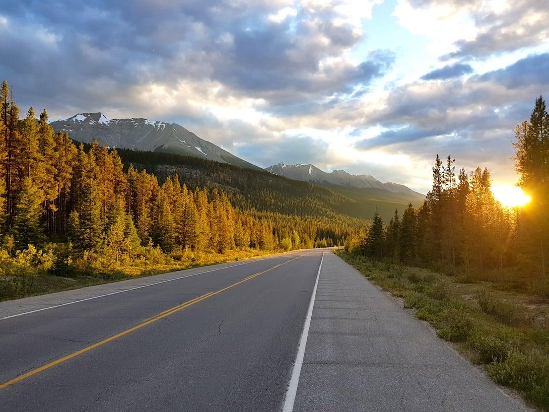 Kanadische Rocky Mountains Icefield Parkway Jasper