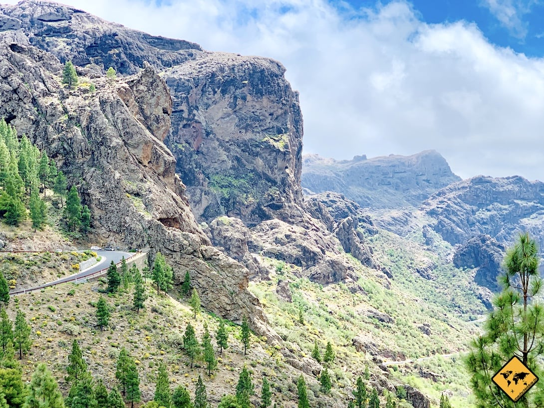 Kanaren Berg-Landschaft Gran Canaria