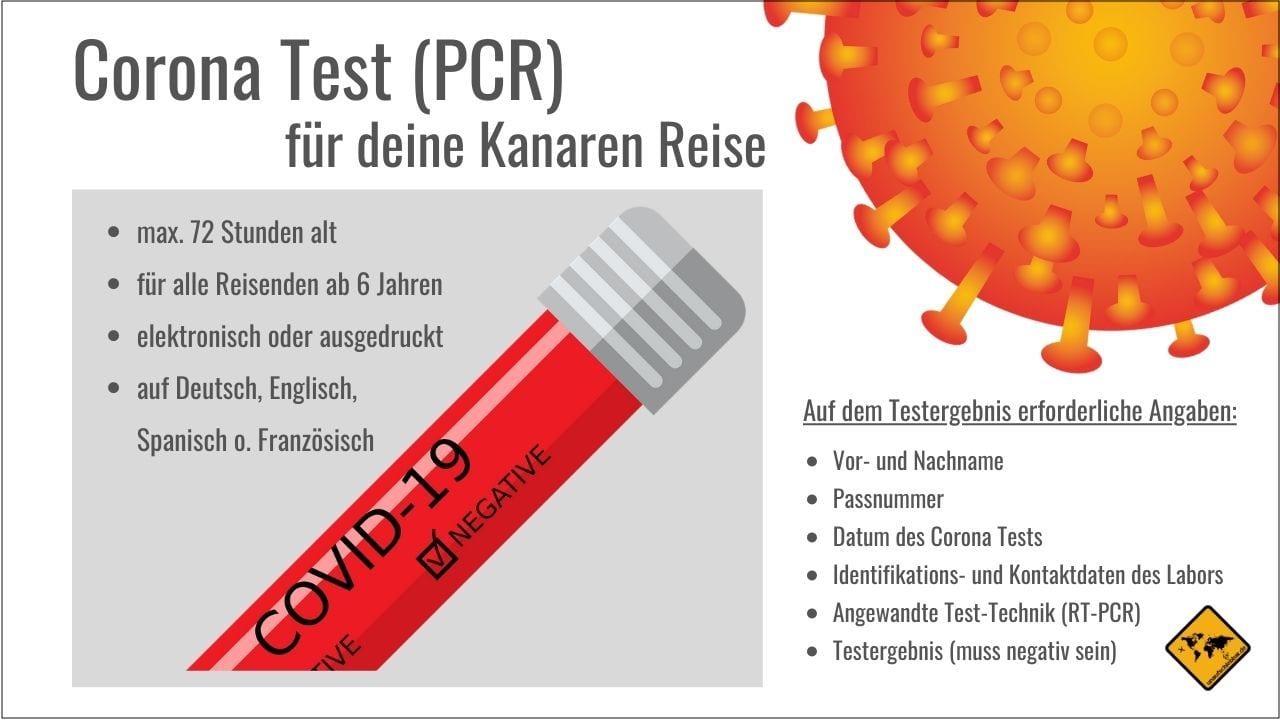 Kanaren Corona Test Anforderungen