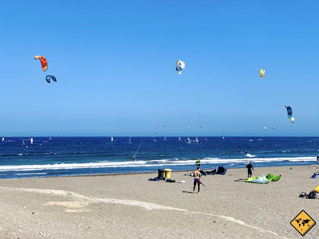 Kanaren El Médano Teneriffa Windsurfen Kitesurfen