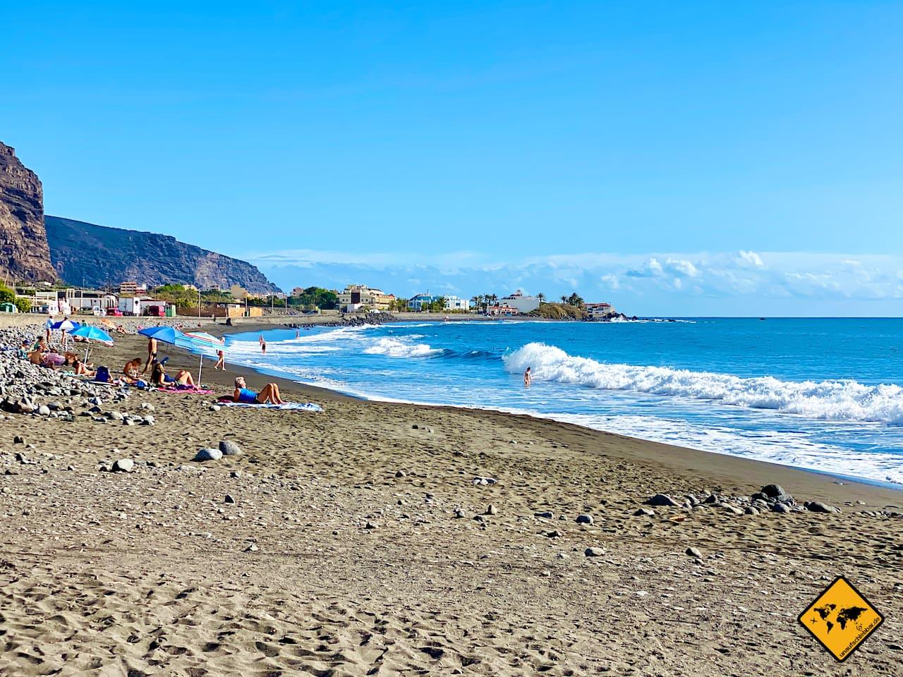 Kanaren La Gomera Strand Valle Gran Rey