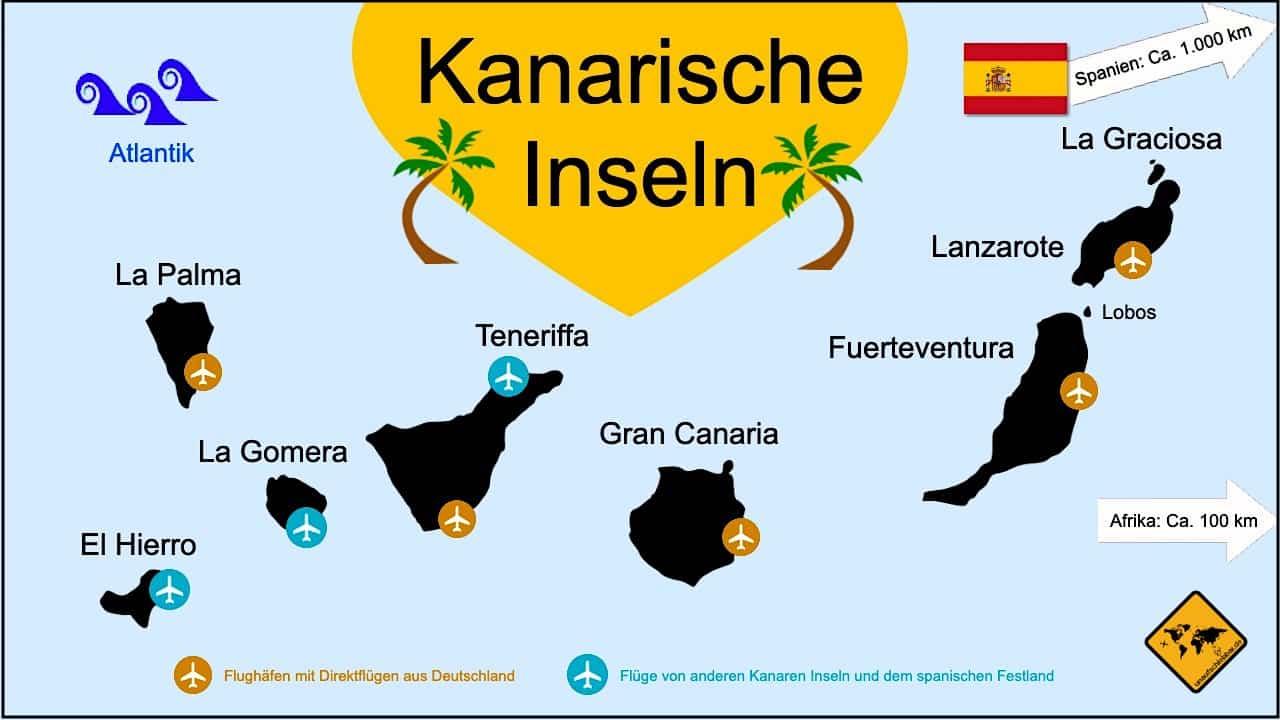 Kanaren welche Insel Karte