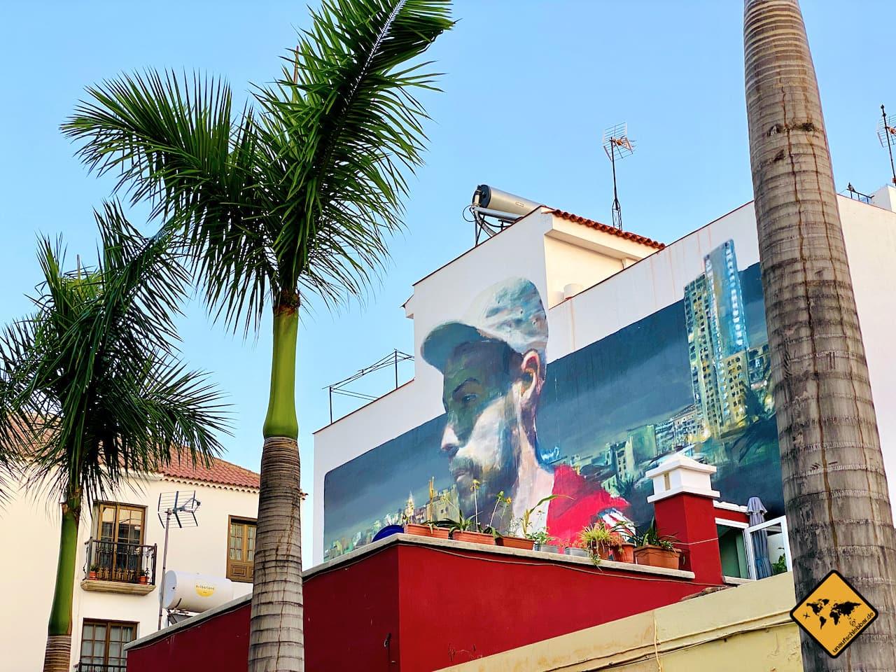 Kanaren welche Insel Streetart Puerto de la Cruz Teneriffa