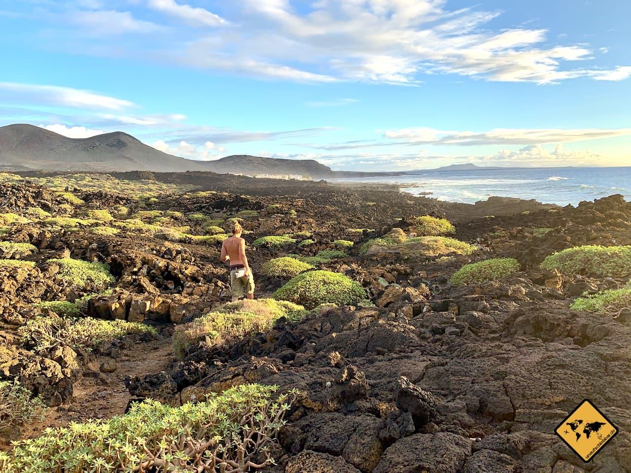 Kanaren welche Insel wandern Lanzarote El Golfo