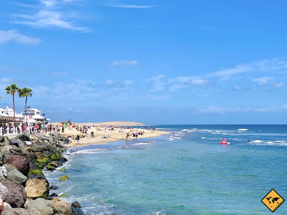 Kanarische Inseln Maspalomas Strand