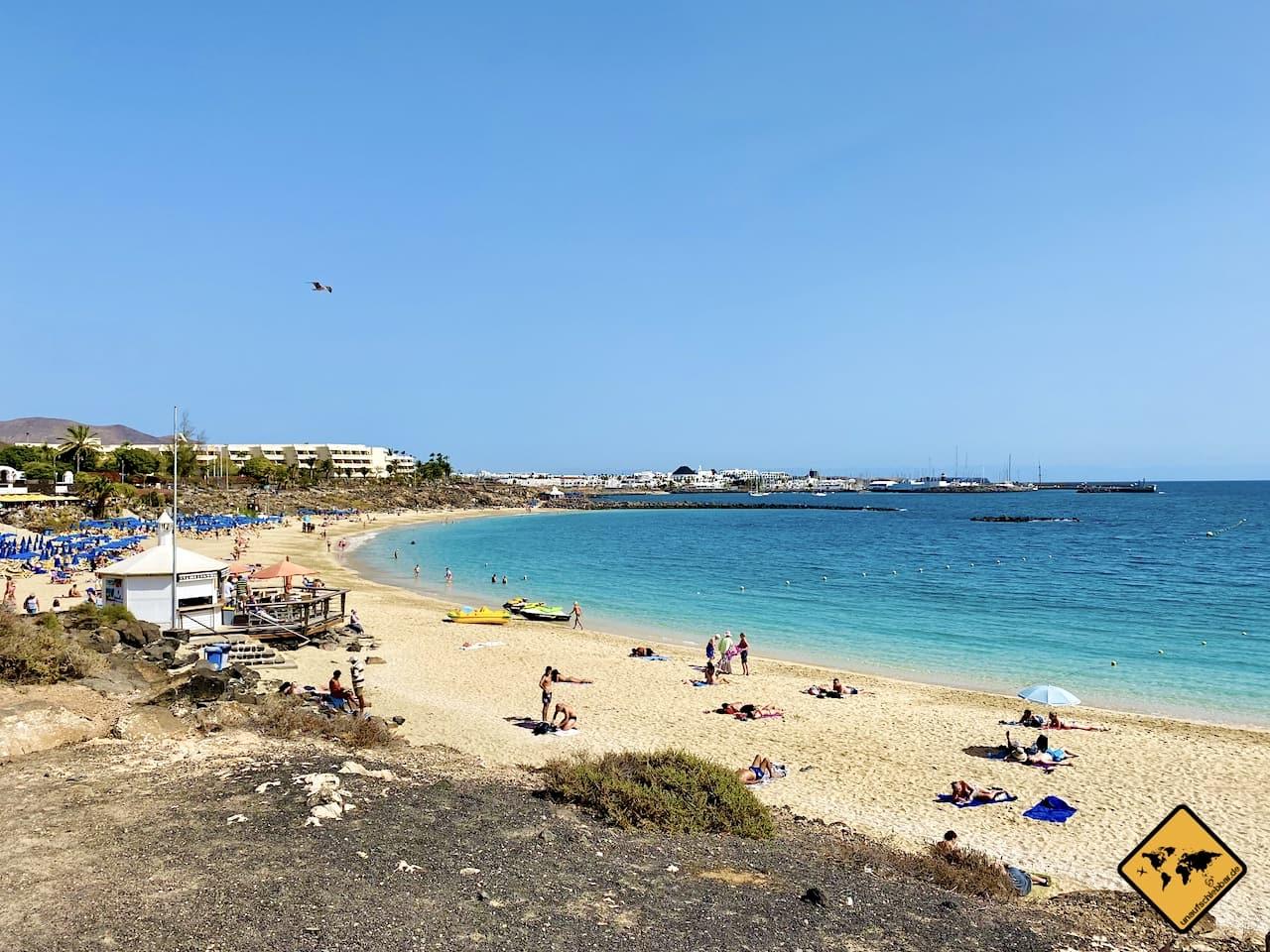 Kanarische Inseln Strand Lanzarote Playa Blanca