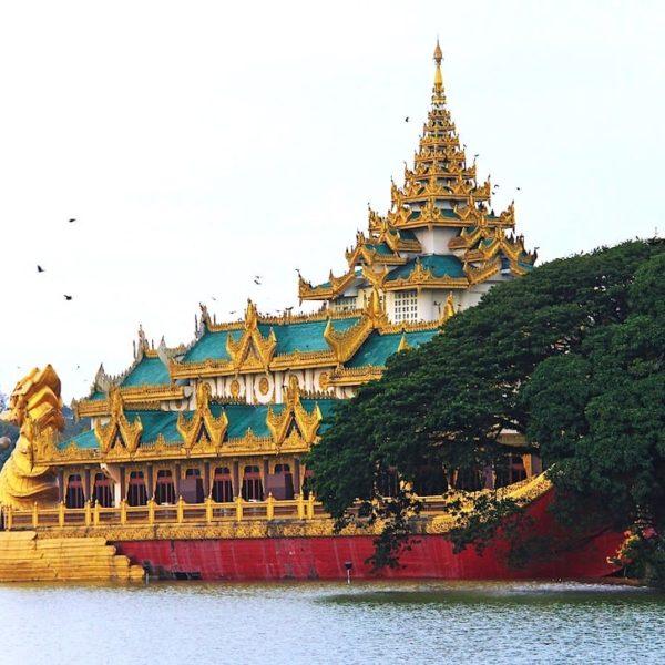 Karaweik Palace Yangon Myanmar