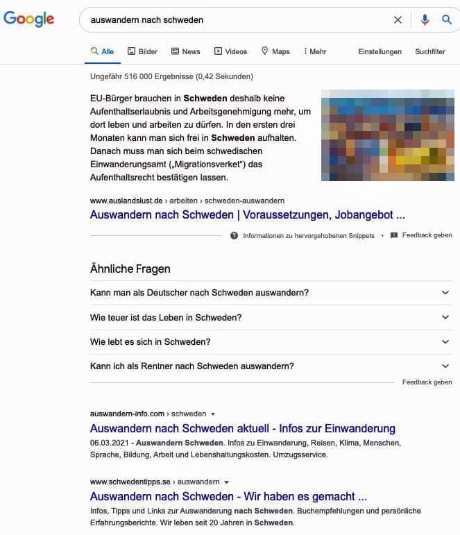 Keine Google Ads Auswandern nach Schweden Digitale Produkte verkaufen