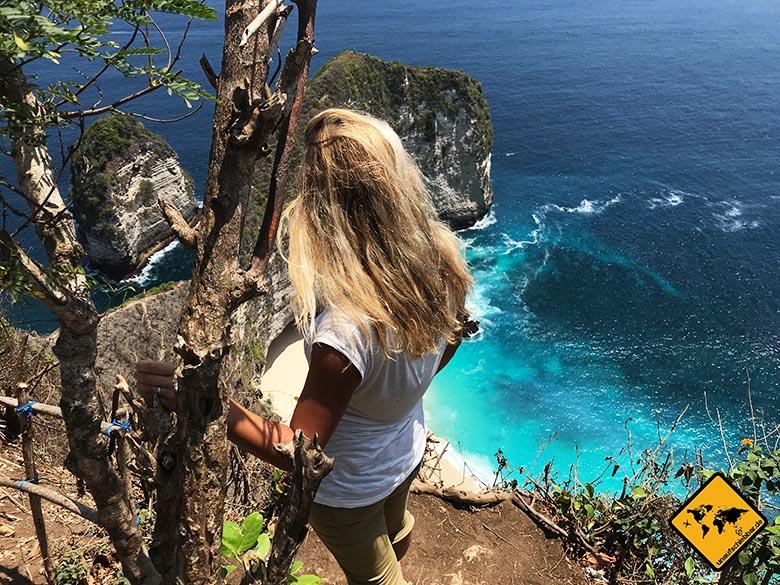 Kelingking Beach Bali Aussicht von oben