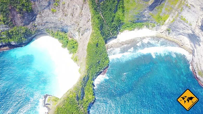 Kelingking Beach Bali Meersicht