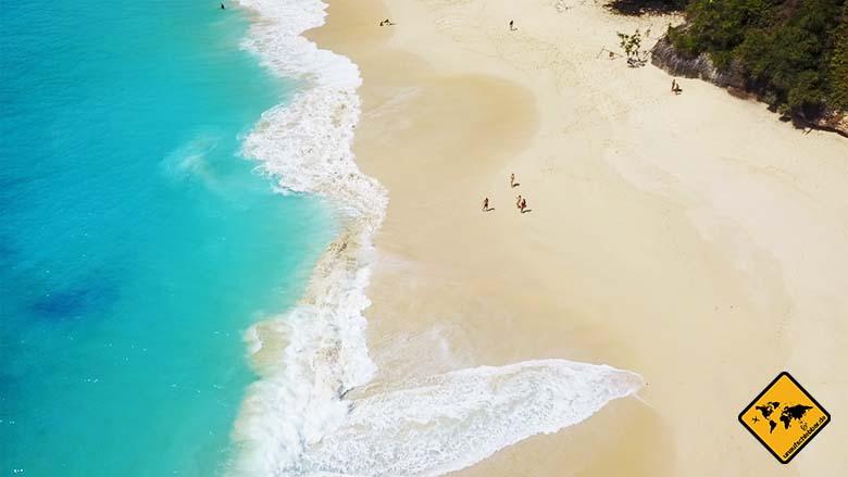 Kelingking Beach Bali Menschen