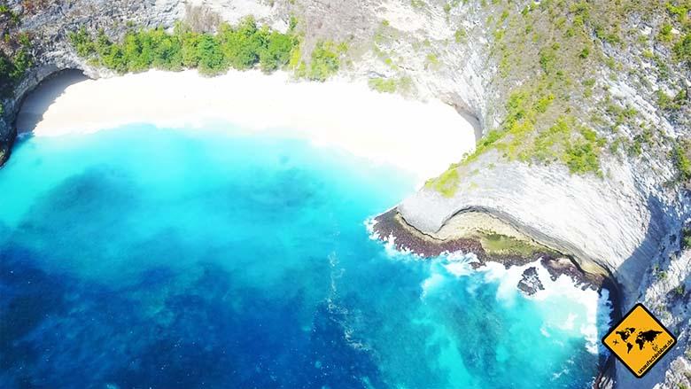 Kelingking Beach Bali Vogelperspektive