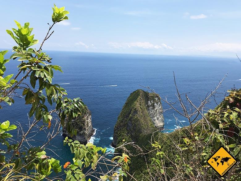 Kelingking Beach Bali Weitblick