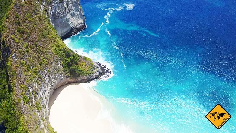 Kelingking Beach Bali hinterer Abschnitt