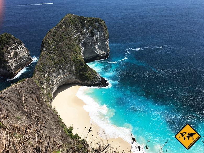 Kelingking Beach Bali türkises Wasser