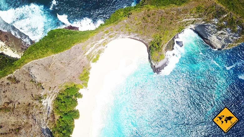 Kelingking Beach Nusa Penida Meersicht