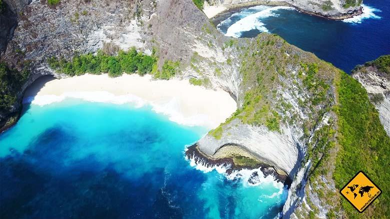 Kelingking Beach Nusa Penida von oben