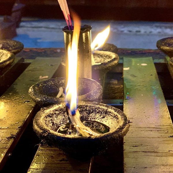 Kerzen Shwedagon Pagode Myanmar