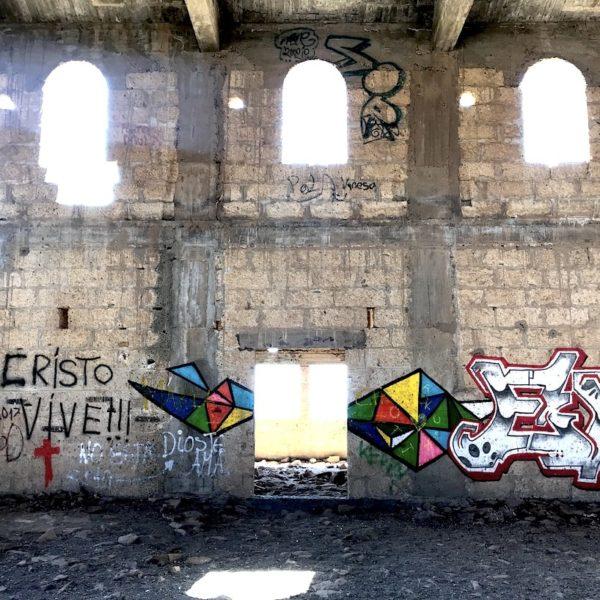 Kirche Graffiti Abades Geisterstadt