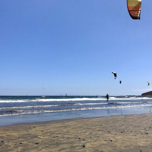 Kiten auf Teneriffa El Médano Playa Sur