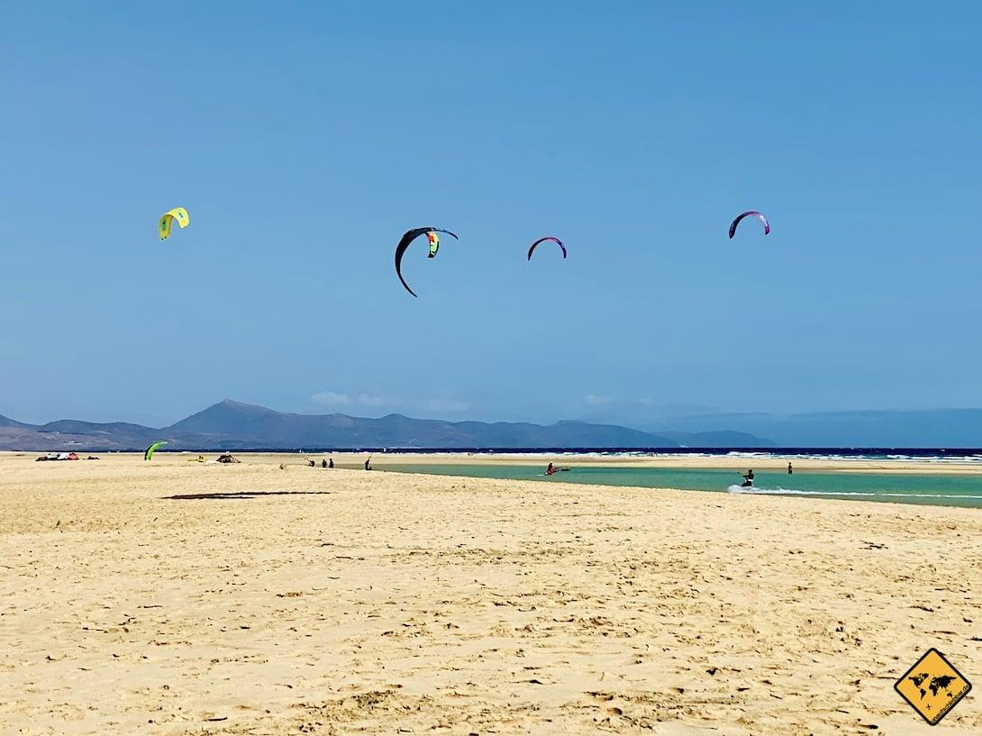 Kitesurfen Fuerteventura Playa de Sotavento de Jandía