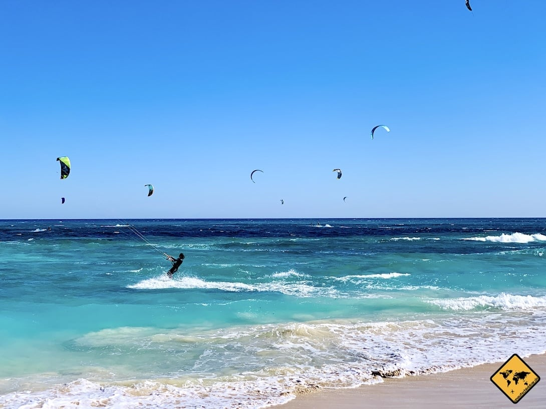 Kitesurfer Corralejo Strand