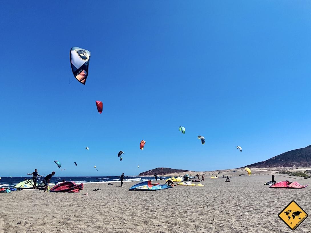 Kitesurfer El Médano Strand