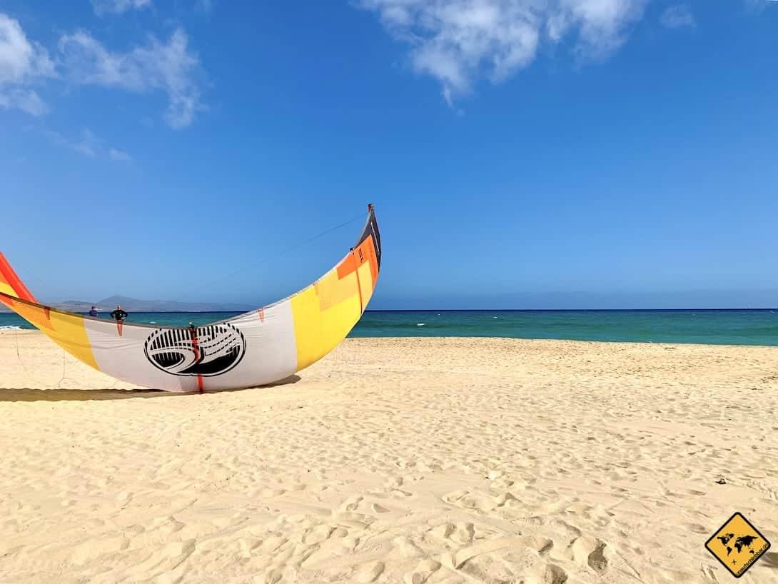 Kitesurfer Strand Fuerteventura Jandía