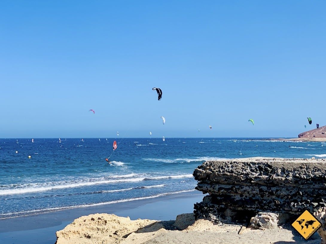 Kitesurfing El Médano Strand