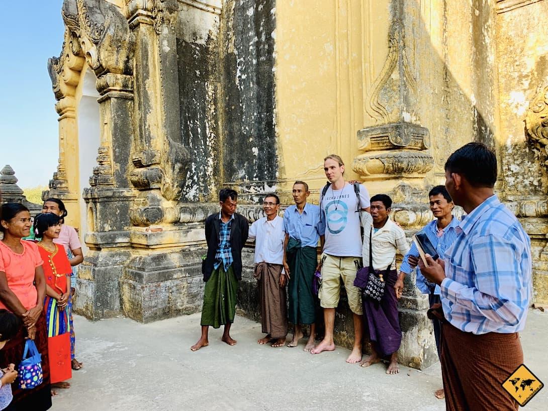Kleidungsordnung Sarong Myanmar Tempel
