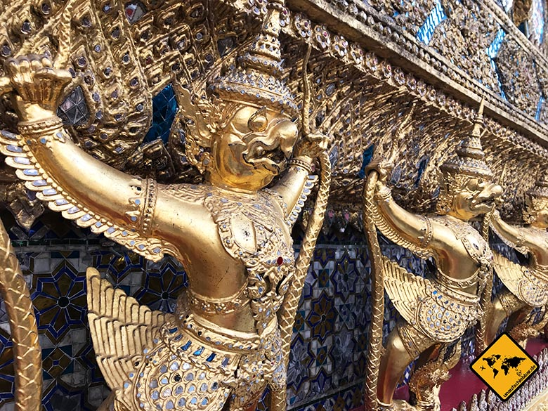 Königspalast Bangkok Goldfiguren